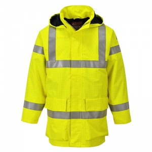 Portwest S774 Yellow Bizflame Rain PPE High-Vis Lightweight Jacket