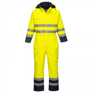 Portwest S775 Yellow Bizflame Rain Multi-Hazard Oil and Gas Coveralls