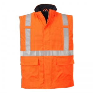 Portwest S776 Bizflame Rain Orange FR High-Vis Bodywarmer