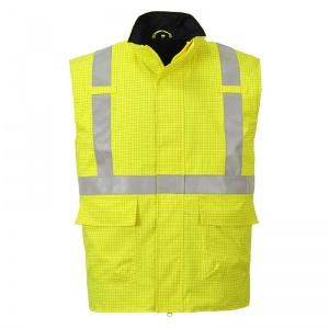 Portwest S776 Bizflame Rain Yellow FR High-Vis Bodywarmer