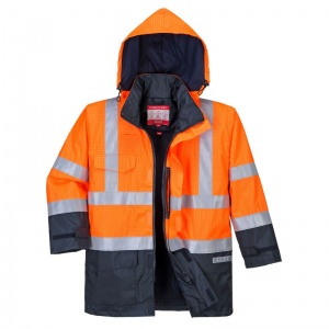 Portwest S779 Orange Bizflame Rain High-Vis Hazard Jacket with Detachable Lining