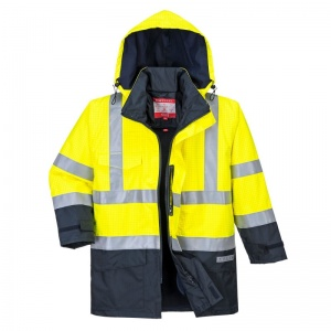 Portwest S779 Yellow Bizflame Rain High-Vis Hazard Jacket with Detachable Lining