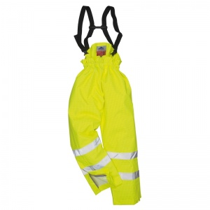Portwest S780 Yellow Bizflame Rain Unlined High-Vis Flame Resistant Trousers