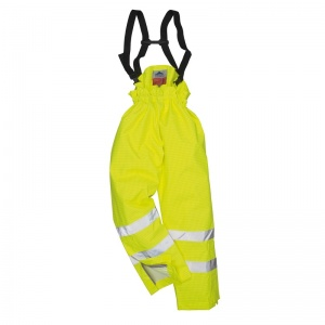 Portwest S781 Yellow Bizflame Rain Lined High-Vis Flame Resistant Trousers