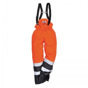 Portwest S782 Orange Bizflame Rain High-Vis PPE Trousers