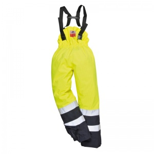 Portwest S782 Yellow Bizflame Rain High-Vis PPE Trousers