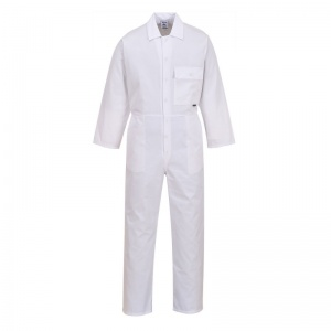Portwest 2802 White Standard Coveralls with Chest Pocket