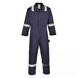 Portwest F813 Navy Iona Safety Coveralls with Reflective Tape