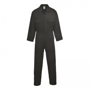 Portwest S998 Black Cotton Work Coveralls