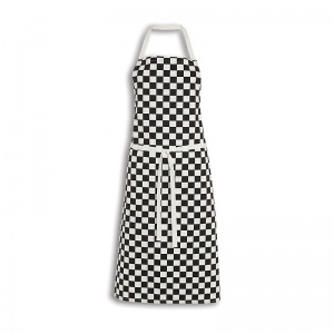 Alexandra Workwear Chef's Teflon Coated Check Bib Apron