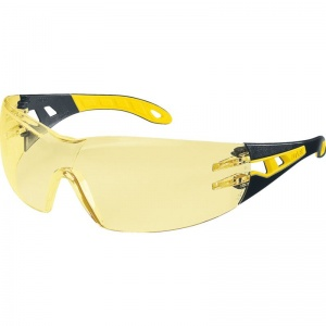 Uvex Pheos S Amber-Tinted Safety Glasses 9192-788