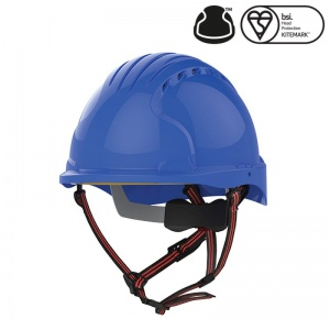 JSP EVO5 Dualswitch Blue Vented Industrial Climbing Safety Helmet