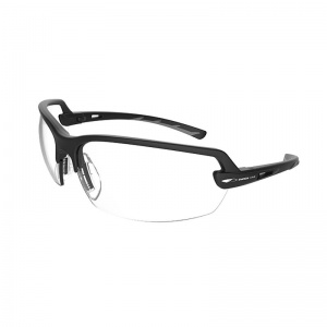 JSP Arvel Black Frame Clear Safety Glasses