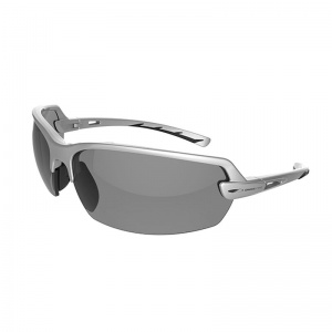 JSP Arvel Silver Frame Smoke Tinted Safety Glasses