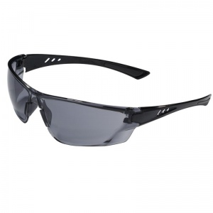 JSP Continental Wraparound Black Frame Smoke Lens Safety Glasses