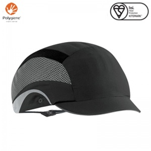JSP Aerolite Black HardCap with Micro Peak
