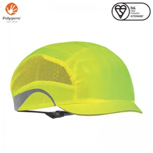 JSP Aerolite Hi-Vis Yellow Hard Cap with Micro Peak