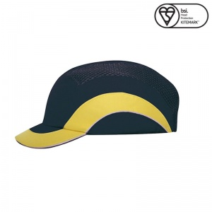 JSP Navy Yellow A1+ Short Peak Hardcap