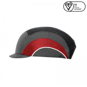 JSP Reflective Grey/Red A1+ Micro Peak Hardcap
