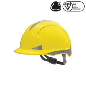 JSP EVOlite Yellow Safety CR2 Hardhat with Slip Ratchet