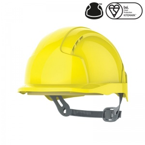 JSP EVOlite Yellow Electrical Safety Micro Peak Helmet with Slip Ratchet