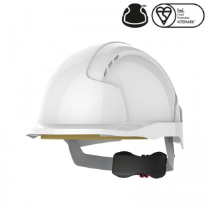 JSP EVOlite White Electrical Safety Micro Peak Helmet with Wheel Ratchet