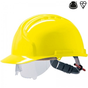 JSP MK7 Yellow Electrical Safety Helmet with Visor