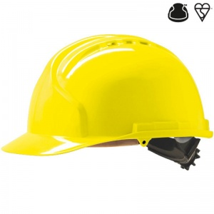 JSP MK7 Yellow Vented Industrial Safety Helmet