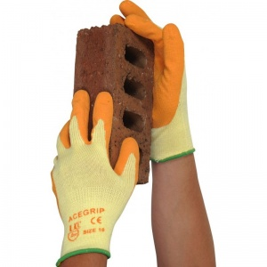 AceGrip Orange General Purpose Lightweight Latex-Coated Gloves