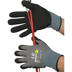 Adept NFT Nitrile Palm-Coated Grip Gloves (Case of 120 Pairs)