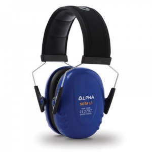 Alpha Solway Sota L1 23dB Low Profile Blue Ear Defenders