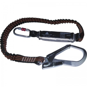 Delta Plus AN235200CD 2m Lanyard with Fall Arrest Energy Absorber