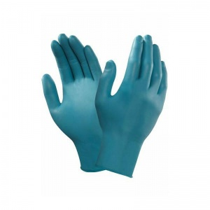Ansell TouchNTuff 92-500 Disposable Blue Nitrile Gloves
