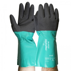 Ansell AlphaTec 58-535W Nylon Chemical Grip Gauntlets