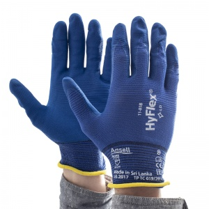 Ansell HyFlex 11-818 Ultra Thin Nitrile Grip Gloves