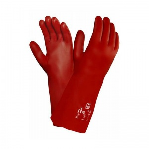 Ansell PVA 15-554 Red Chemical Handling Gauntlets