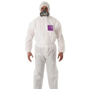Ansell AlphaTec 1500 White Coveralls with Hood 138