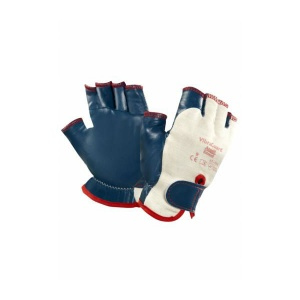 Ansell ActivArmr 07-111 Half-Finger Padded Work Gloves