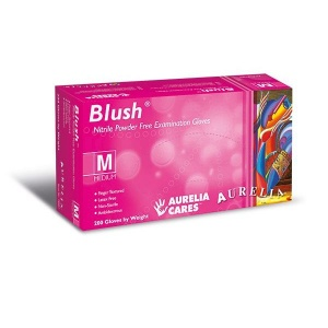 Aurelia Blush 78885-9 Medical Grade Nitrile Powder-Free Gloves