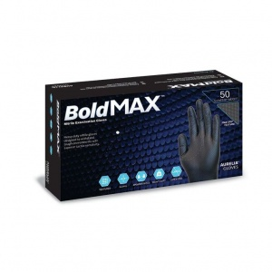 Aurelia Bold Max Black Disposable Nitrile Gloves 9789A