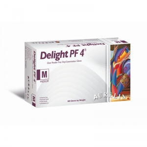 Aurelia Delight PF 4 Vinyl Powder-Free Examination Gloves