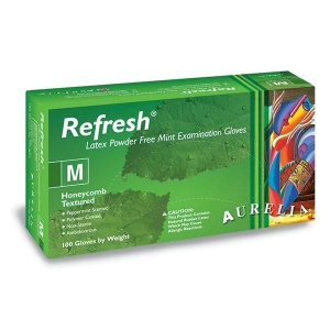 Aurelia Refresh 99225-9 Medical Grade Latex Disposable Gloves