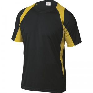 Delta Plus BALI Polyester Black and Yellow T-Shirt