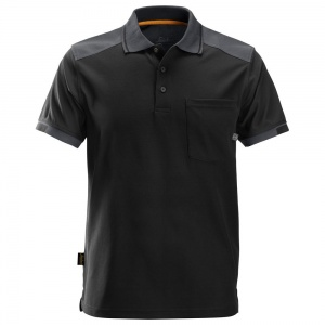 Snickers AllRoundWork Black Short Sleeve Polo Shirt