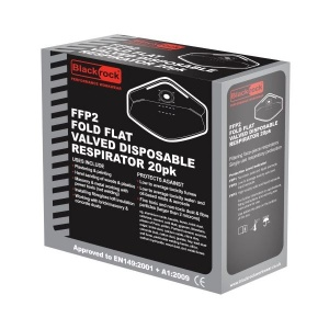Blackrock FFP2 Fold Flat Valved Disposable Respirator (Pack of 20)