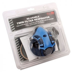 Blackrock Reusable Twin Half Mask Respirator with A1/P2 Filter
