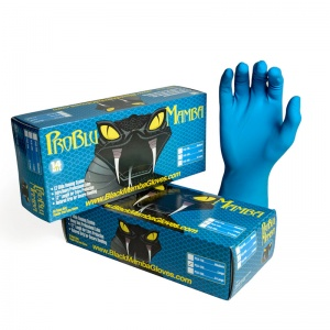 Pro Blu Mamba Tough Disposable Latex Gloves BX-PLB