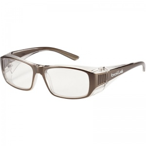 Bollé B808 Clear PLATINUM-Coated Safety Glasses B808BLPSI
