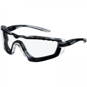 Bollé Cobra Clear Foam Safety Glasses with Side Arms COBFTPSI
