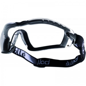 Bollé Cobra Clear Foam Safety Goggles with Adjustable Strap COBFSPSI